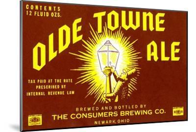 Olde Towne Ale--Mounted Art Print