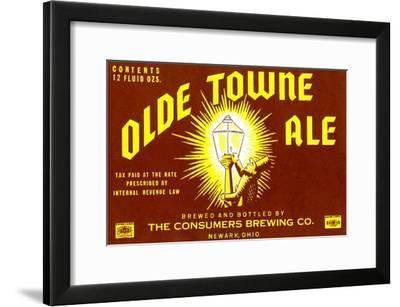 Olde Towne Ale--Framed Art Print