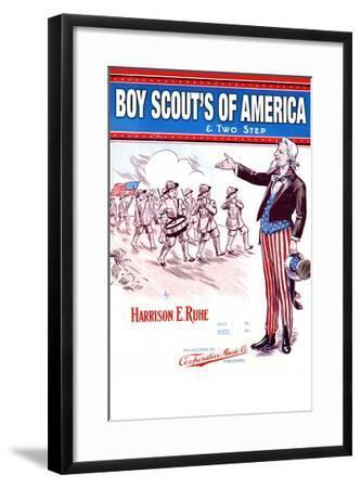 Boy Scout's of America--Framed Art Print