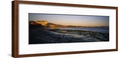Sunset at Low Tide on Ventura Beach and the San Buenaventura Pier-Rich Reid-Framed Photographic Print