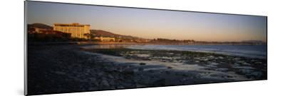 Sunset at Low Tide on Ventura Beach and the San Buenaventura Pier-Rich Reid-Mounted Photographic Print