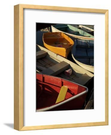 Rockport Harbor with Lobster Fishing Boats and Row Boats-Tim Laman-Framed Photographic Print