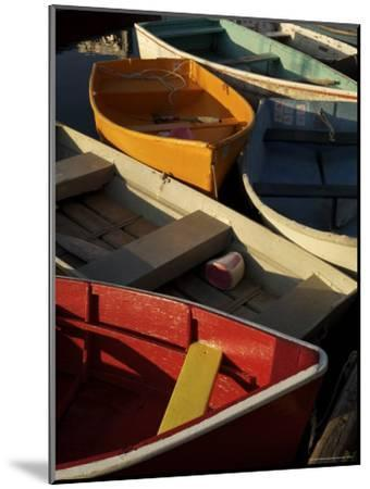 Rockport Harbor with Lobster Fishing Boats and Row Boats-Tim Laman-Mounted Photographic Print
