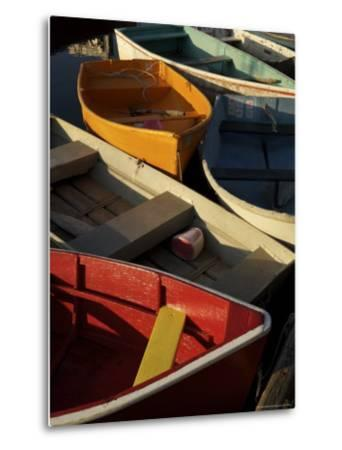 Rockport Harbor with Lobster Fishing Boats and Row Boats-Tim Laman-Metal Print