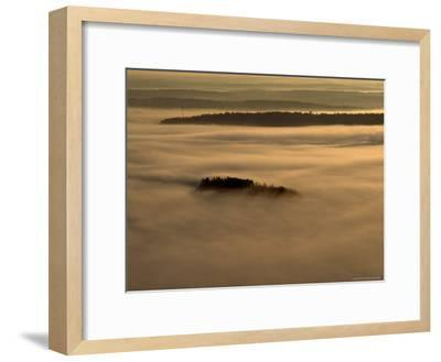 Low Lying Fog Over Merrymeeting Bay at Sunrise-Heather Perry-Framed Photographic Print