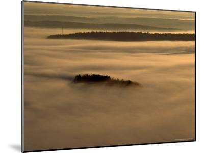 Low Lying Fog Over Merrymeeting Bay at Sunrise-Heather Perry-Mounted Photographic Print