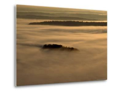 Low Lying Fog Over Merrymeeting Bay at Sunrise-Heather Perry-Metal Print