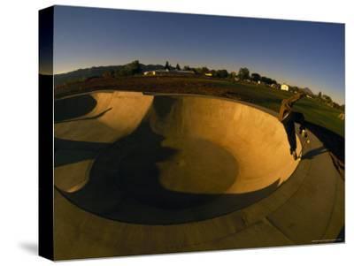 Skateboarding in a Skate Park-Bill Hatcher-Stretched Canvas Print