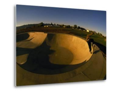 Skateboarding in a Skate Park-Bill Hatcher-Metal Print