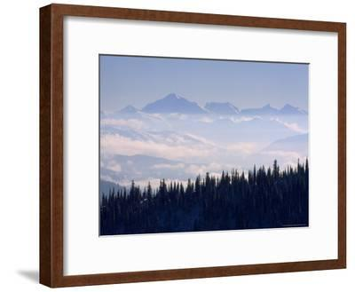 Clouds Envelope the Rocky Mountains Near Whitefish-Gordon Wiltsie-Framed Photographic Print