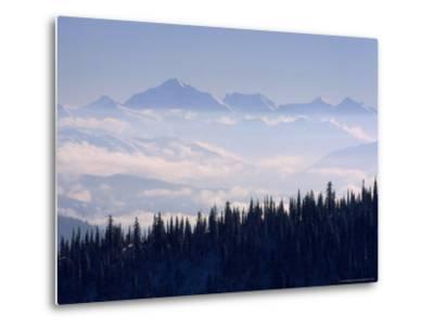 Clouds Envelope the Rocky Mountains Near Whitefish-Gordon Wiltsie-Metal Print
