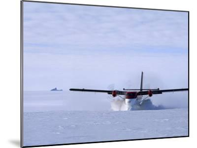 Twin Otter Departs From Base Camp Below the Rakekniven Spire-Gordon Wiltsie-Mounted Photographic Print