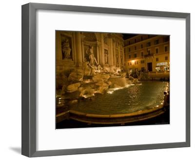 The Trevi Fountain at Night-Stephen Alvarez-Framed Photographic Print