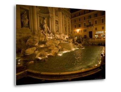 The Trevi Fountain at Night-Stephen Alvarez-Metal Print