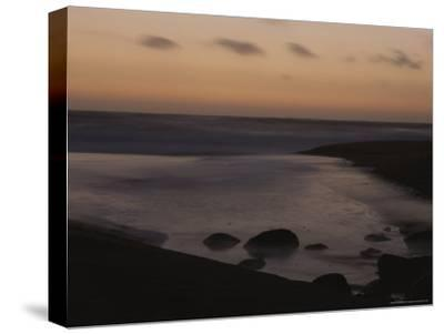 Twilight View of a Beach South of Carmel, California-Mark Cosslett-Stretched Canvas Print