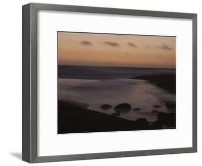 Twilight View of a Beach South of Carmel, California-Mark Cosslett-Framed Photographic Print
