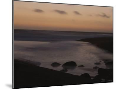 Twilight View of a Beach South of Carmel, California-Mark Cosslett-Mounted Photographic Print