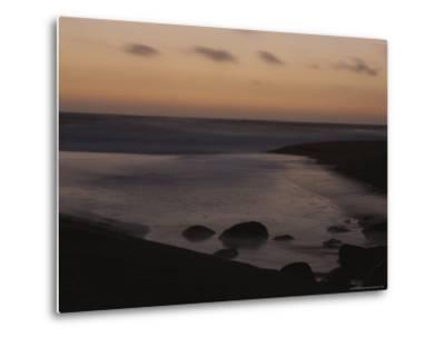 Twilight View of a Beach South of Carmel, California-Mark Cosslett-Metal Print