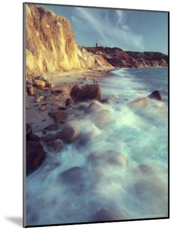 Ghostly Surf on Rocky Beach at Gay Head Point-Michael Melford-Mounted Photographic Print