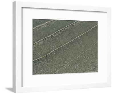 The Surf Leaves a Pattern of Ripples in the Sand-Marc Moritsch-Framed Photographic Print