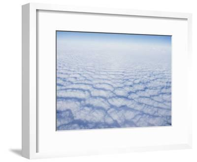 Cloud Pattern over the Pacific Ocean at 30,000 Feet-Rich Reid-Framed Photographic Print