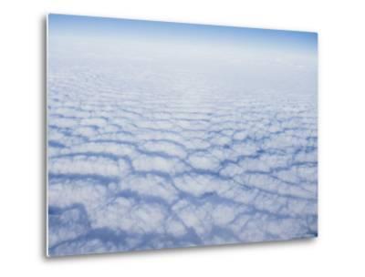 Cloud Pattern over the Pacific Ocean at 30,000 Feet-Rich Reid-Metal Print