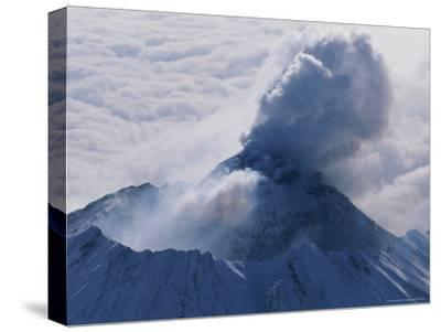 Aerial View of Smoke Pouring From the Dome of Bezymianny Volcano-Peter Carsten-Stretched Canvas Print