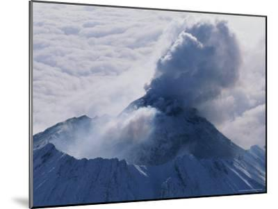 Aerial View of Smoke Pouring From the Dome of Bezymianny Volcano-Peter Carsten-Mounted Photographic Print
