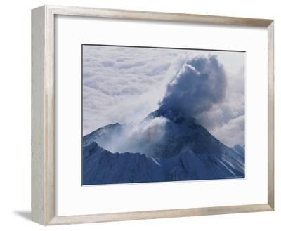 Aerial View of Smoke Pouring From the Dome of Bezymianny Volcano-Peter Carsten-Framed Photographic Print