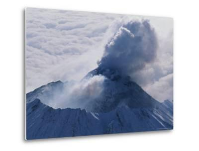 Aerial View of Smoke Pouring From the Dome of Bezymianny Volcano-Peter Carsten-Metal Print