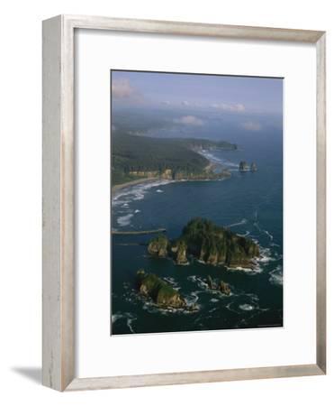 Aerial View of Washington's Coastline with Sea Stacks-Melissa Farlow-Framed Photographic Print