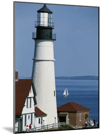 Portland Head Lighthouse on Cape Elizabeth-Rich Reid-Mounted Photographic Print