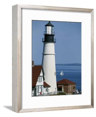 Portland Head Lighthouse on Cape Elizabeth-Rich Reid-Framed Photographic Print