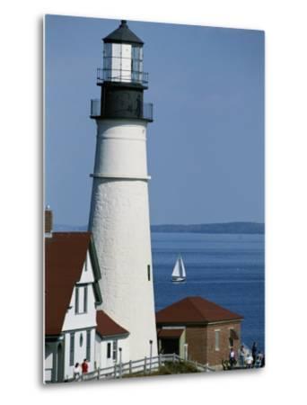 Portland Head Lighthouse on Cape Elizabeth-Rich Reid-Metal Print