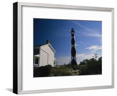 Cape Lookout Light, Prototype For All Outer Banks Lighthouses-Raymond Gehman-Framed Photographic Print