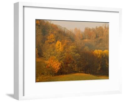 Morning View of Autumn Colors in the Jefferson National Forest-Raymond Gehman-Framed Photographic Print