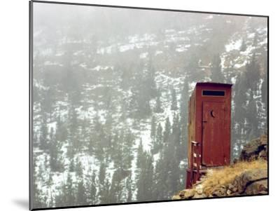 Outhouse Perches on a Hillside-Rex Stucky-Mounted Photographic Print