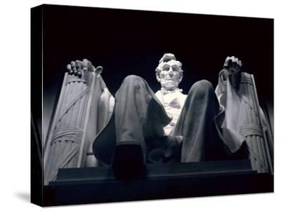 Abraham Lincoln Statue Inside the Lincoln Memorial-Rex Stucky-Stretched Canvas Print