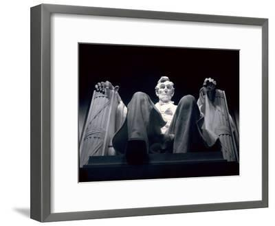 Abraham Lincoln Statue Inside the Lincoln Memorial-Rex Stucky-Framed Photographic Print
