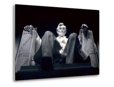 Abraham Lincoln Statue Inside the Lincoln Memorial-Rex Stucky-Metal Print