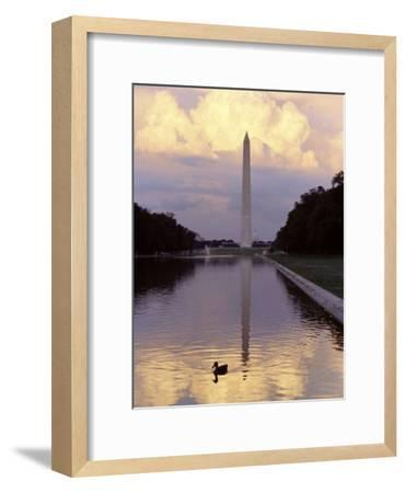 Twilight View of the Washington Monument and the Reflecting Pool-Rex Stucky-Framed Photographic Print