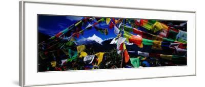 Buddhist Prayer Flags Framing Mt Miacimu, Meili Xueshan Mountain Range-Richard I'Anson-Framed Photographic Print