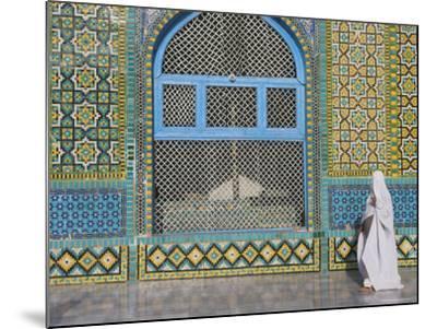 Pilgrim in a Burqa Passing the Shrine of Hazrat Ali-Jane Sweeney-Mounted Photographic Print
