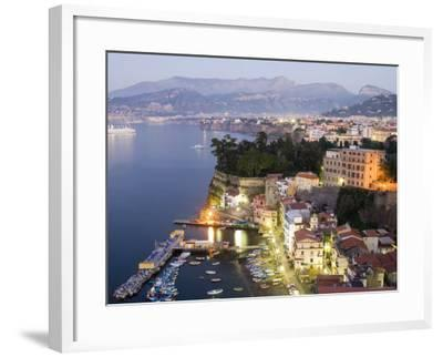Sorrento at Dusk-Greg Elms-Framed Photographic Print