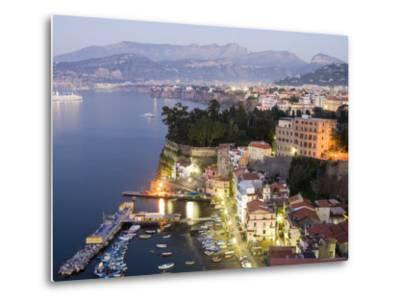 Sorrento at Dusk-Greg Elms-Metal Print