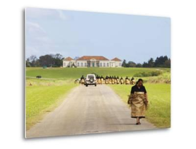 Paying Tribute to the New King of Tonga-Oliver Strewe-Metal Print