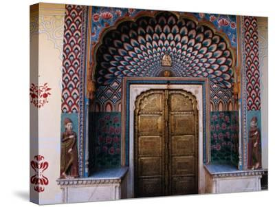 Lotus Gate in Pitam Niwas Chowk in City Palace-Richard I'Anson-Stretched Canvas Print