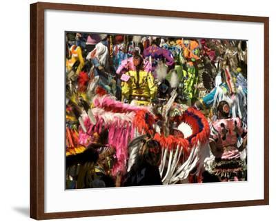 Native Dancers in Traditional Dress, Kamloops Pow Wow Grand Entry-Emily Riddell-Framed Photographic Print