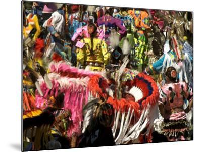 Native Dancers in Traditional Dress, Kamloops Pow Wow Grand Entry-Emily Riddell-Mounted Photographic Print