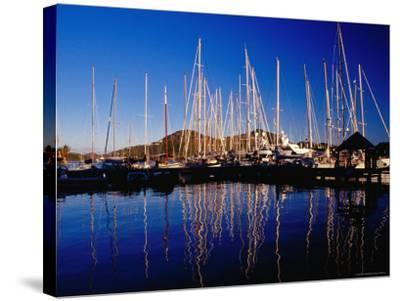 Yachts in Marina at Falmouth Harbour-Richard I'Anson-Stretched Canvas Print